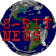 an 8-bit image of the earth superimposed with the words 8-bit news