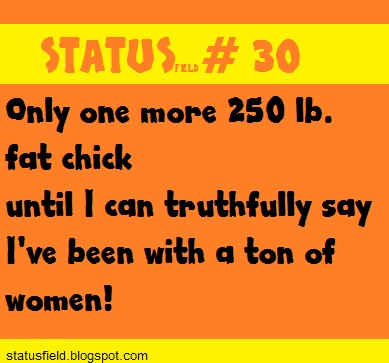 funny fat chick quote status