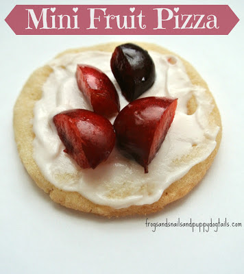 Mini Fruit Pizza- great to make with the kids