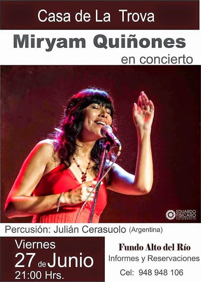 Miryam Quiñones en Arequipa - 27 de junio