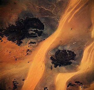 Imagen de satélite del desierto Líbico