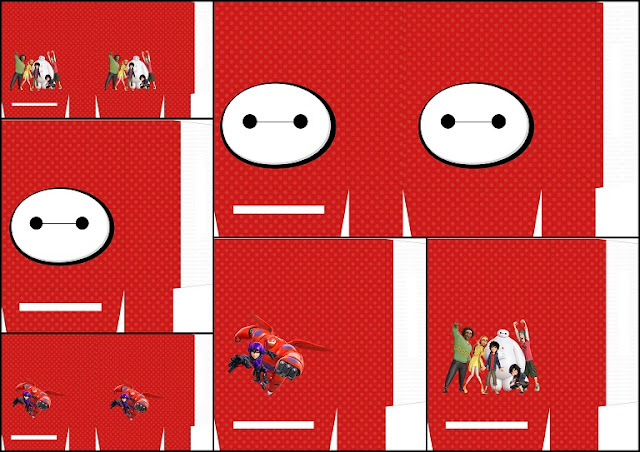 Cajas de Big Hero 6 para Imprimir Gratis.