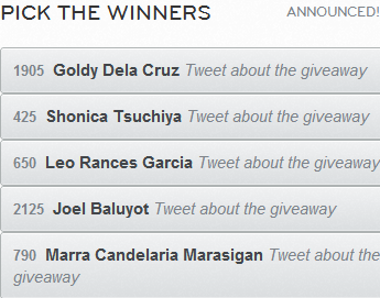 My SerendipiTea Giveaway WINNERS