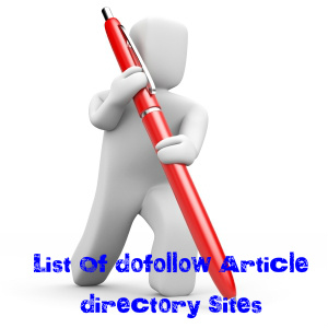 Article Directory Sites