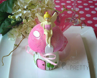 Money box favors for christening with Tinkerbell