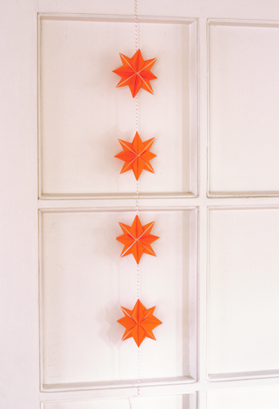 You Can Make Garlands With Them The Back Sides Arent As Pretty So Hang Garland Against A Wall Or Put Two Stars To