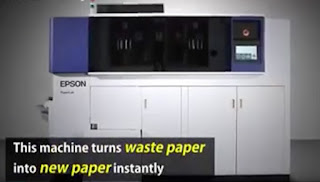 Epson's Compact Paper Recycling Machine