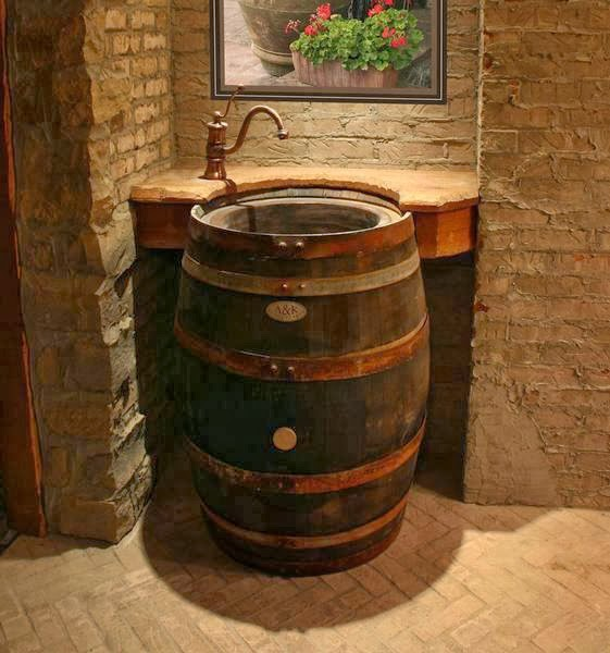 Wooden Barrel Sink