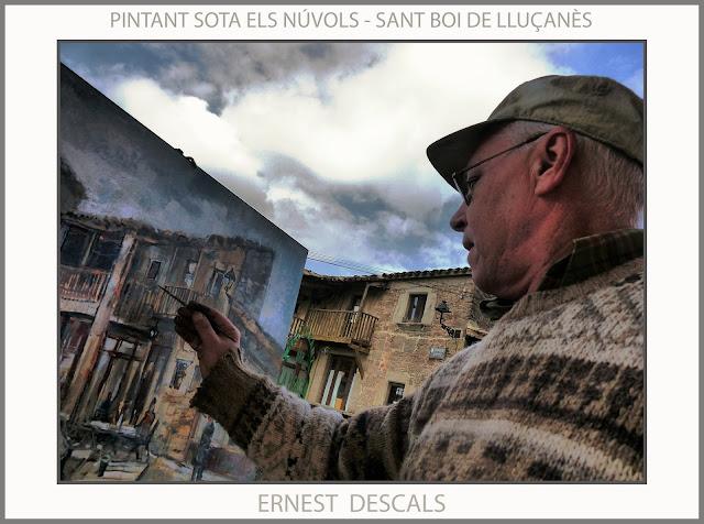 SANT BOI DE LLUÇANÈS-PINTURA-PAISATGES-NÚVOLS-RESTAURANT-CA LA MERCÈ-FOTOS-PINTORS-CATALUNYA-ARTISTA-PINTOR-ERNEST DESCALS-