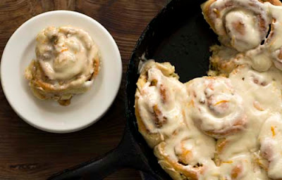 orange pecan cinnamon rolls
