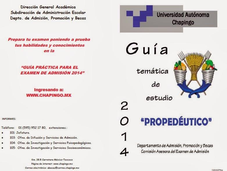 Examen de Admisión Chapingo 2014