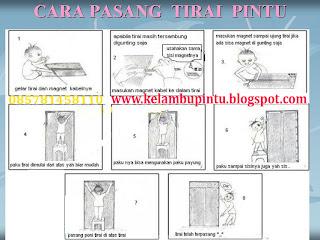 Cara pasang kelambu pintu