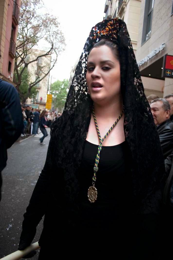 Woman disguised on easter week