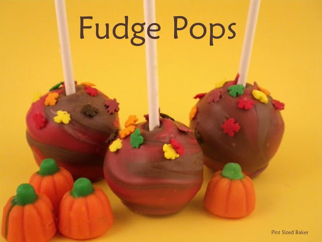 "Pumpkin Butterscotch Fudge turned into pops?? Heck yeah!! You can ""pop"" almost any treat!"