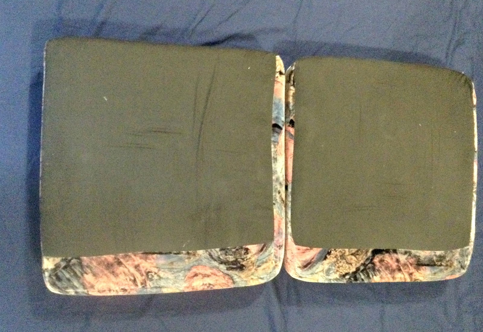 Lay Out The Second Sheet And Your Two Seat Cushions Upside Down On It Side By