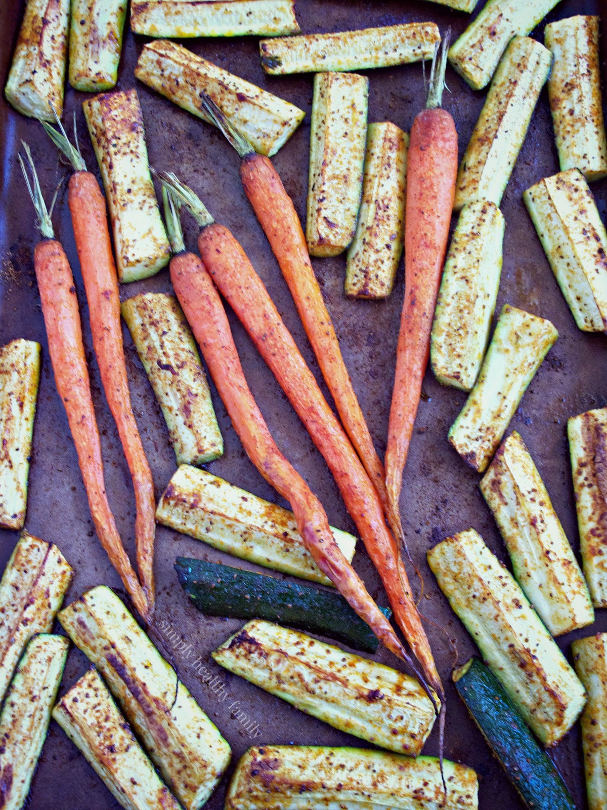 Sumac Roasted Carrots and Zucchini from Simply Healthy Family # ...