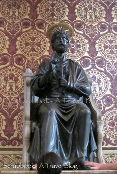 Bronze Statue of St Peter in Basilica Vatican City
