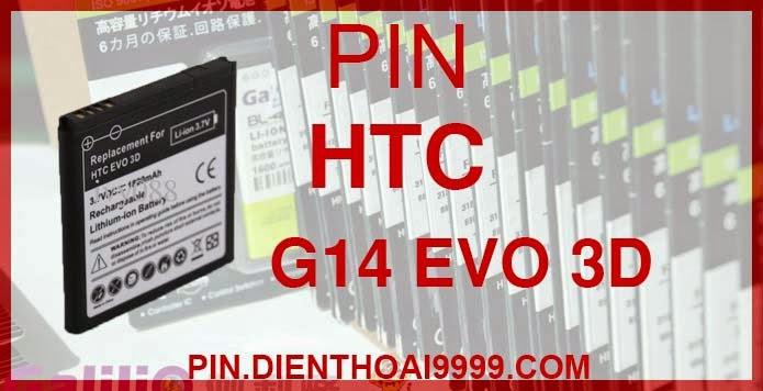 Pin HTC-G14 - Pin Chính hãng / Pin Galilio HTC G14 dung lượng cao. - Giá 230K - Bảo hành: 6 tháng  - Pin tương thích với điện thoại HTC EVO 3D, Pin HTC G14 Sensation (Z710e), Pin HTC Mytouch 4G slide, Pin HTC Raider (X515e), Pin HTC Pyramid, Sensation 4G, Pin HTC Shooter, sensation XE, sensation XL  Thông số kĩ thuật: - Pin HTC-G14 được thiết kế kiểu dáng và kích thước y như pin nguyên bản theo máy, Pin tiêu chuẩn, chất lượng như pin theo máy. - Kích thước: - Dung lượng: 1800 mAh - Điện thế: 3.7V - Công nghệ: Pin Li-ion Battery