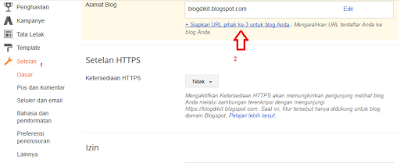 cara menghubungkan domain ke blogger