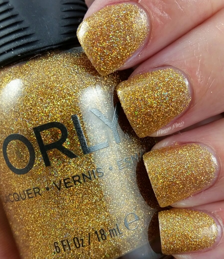 orly bling, a gold glitter nail polish