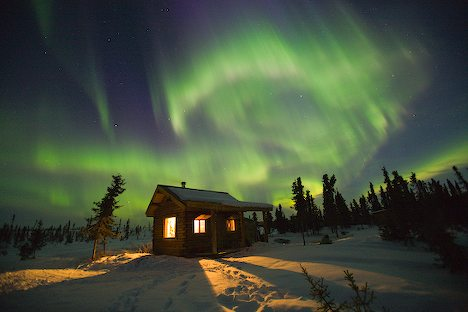 Aurora Borealis on Aurora Borealis Winter Cabin 7290 Jpg