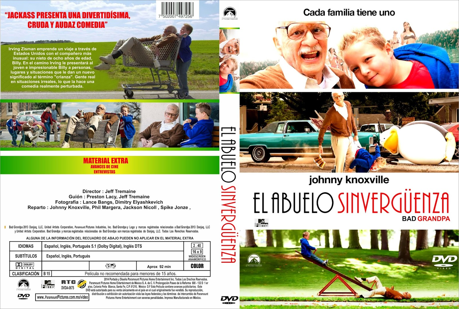 BAD GRANDPA - DVD COVER 2013Bad Grandpa Dvd Cover