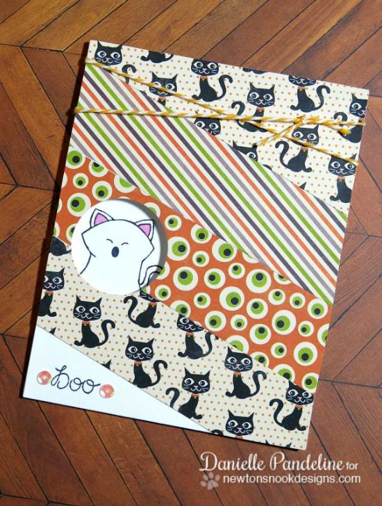 Boo! Kitty Halloween Card by Danielle Pandeline | Boo Crew stamp set by Newton's Nook Designs #boo #halloween #cat #newtonsnook