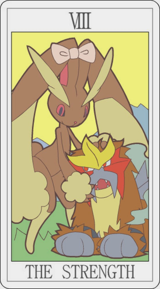 Pokemon Tarot - The Strength