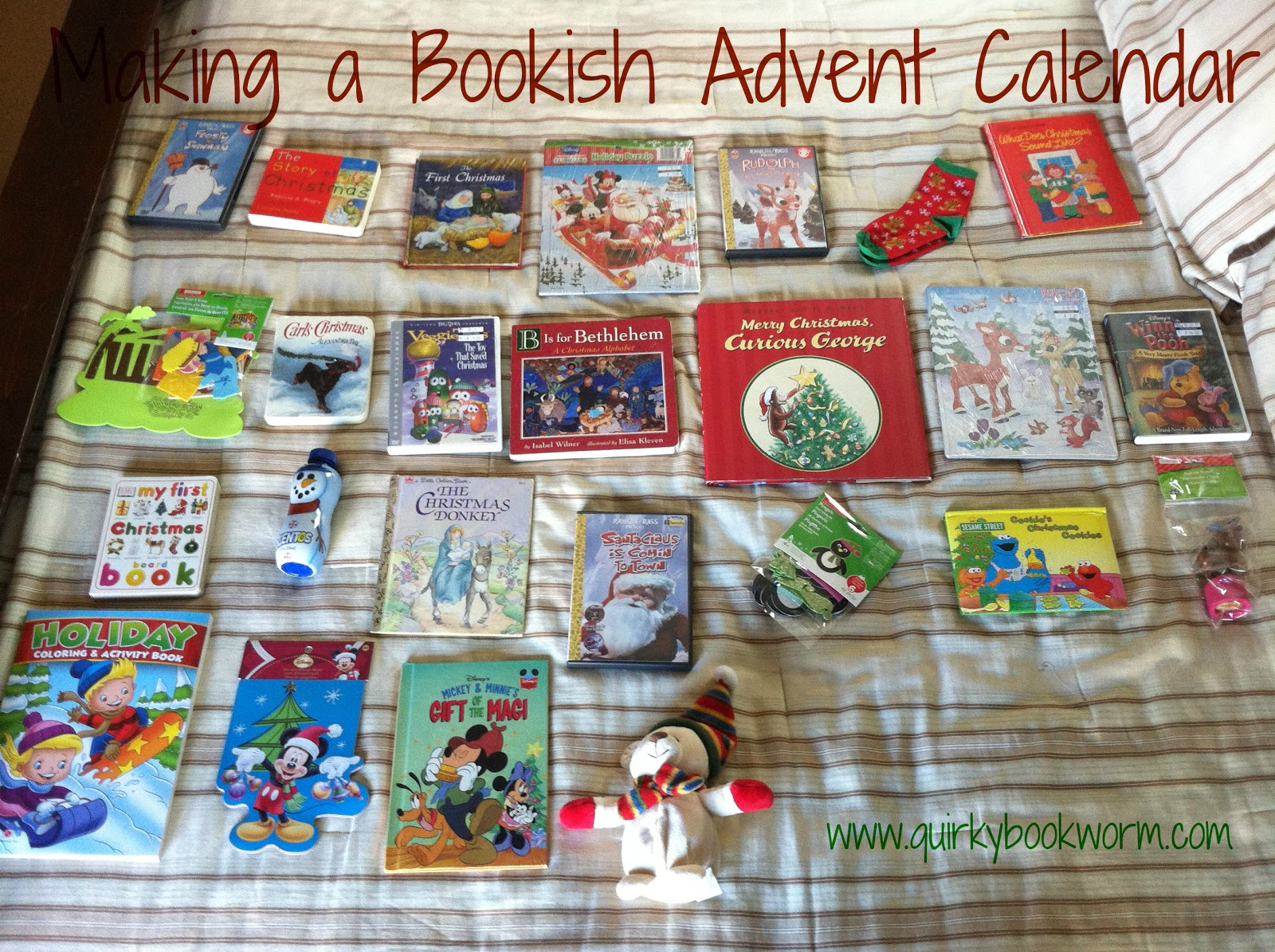 Making a Bookish Advent Calendar