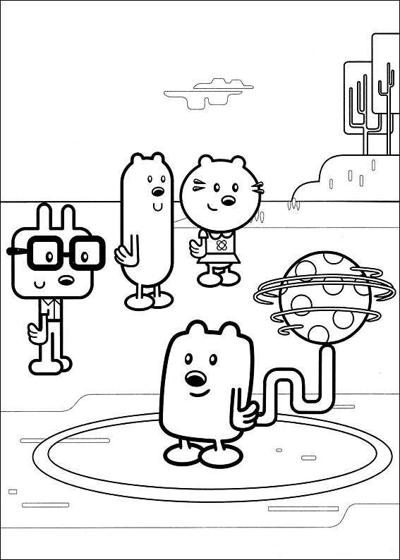 wa wa wubbzy coloring pages - photo #1