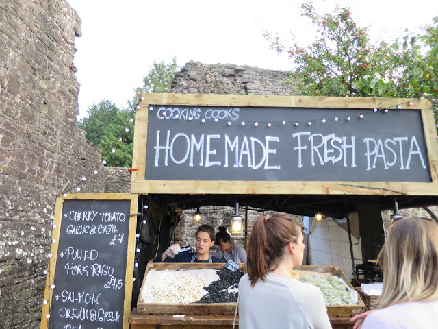 Abergavenny Food Festival Fresh Pasta Homemade Market Stall Stand