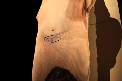 Colossal Statue of Tutankhamun - Belt Detail