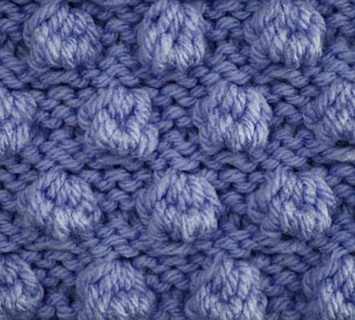 Knitting Galore: Saturday Stitch: Bobble Stitch