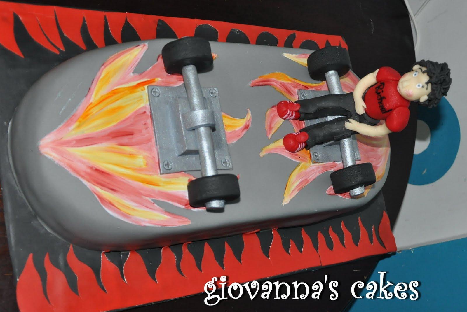 how to make a skateboard cake