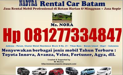 Hp 081277334847 NADYRA Rental Mobil Batam