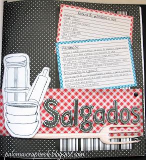 caderno de receitas tema butiquim scrapbook