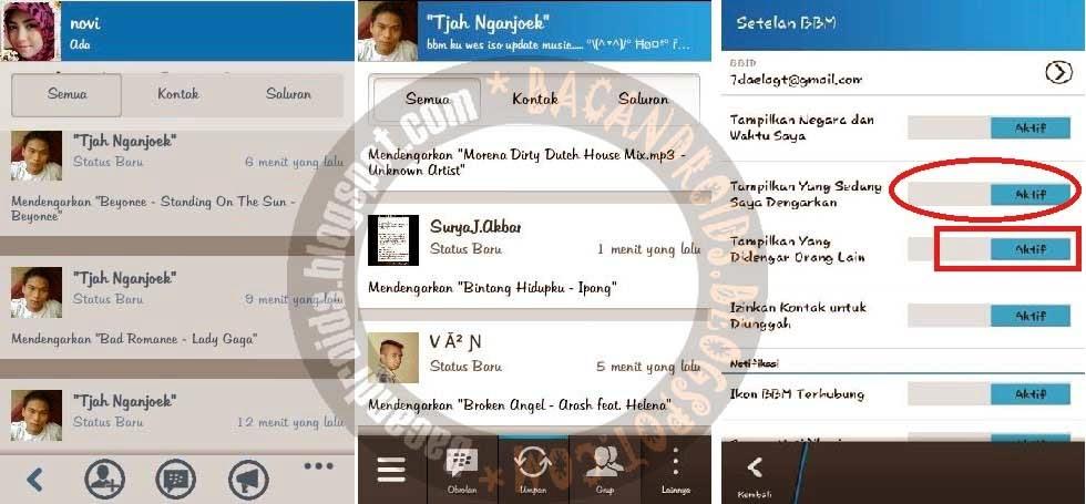 BBM terbaru versi bisa dengerin lagu update status musik 2.5 apk download