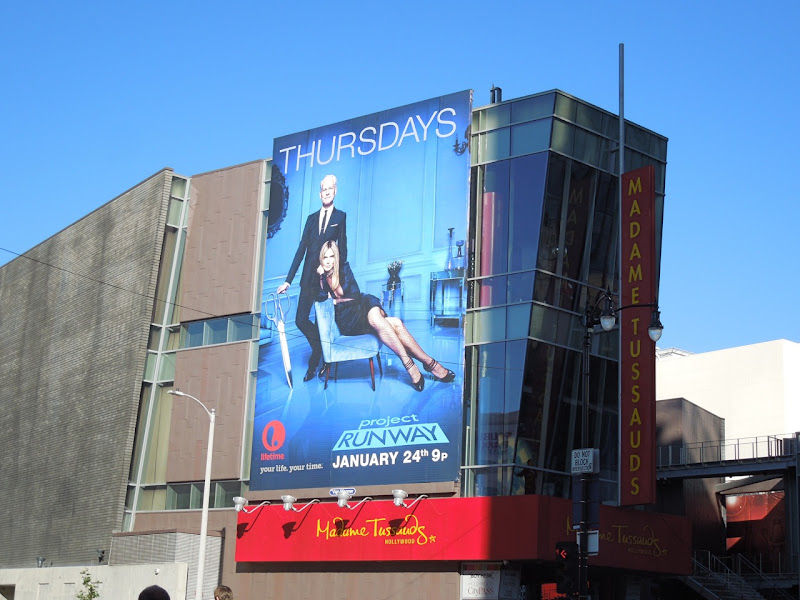 Project Runway season 11 billboard Madame Tussauds Hollywood