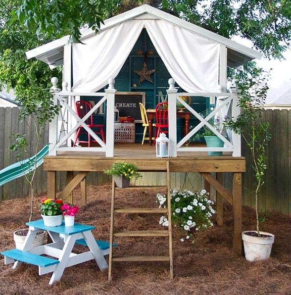 Entre Barrancos Manualidades Casitas Infantiles En El Jardin - Casas-infantiles-para-jardin