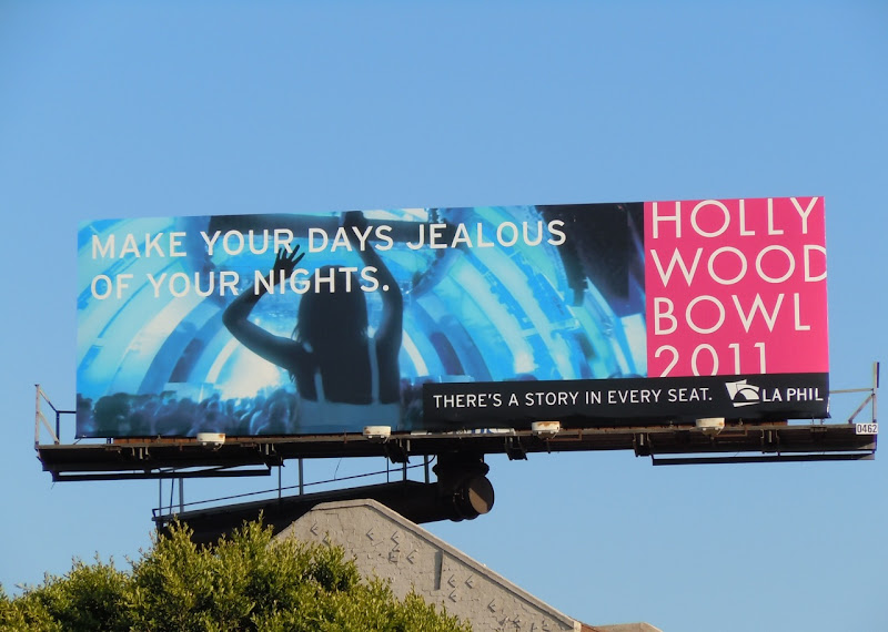 Hollywood Bowl Make days jealous billboard