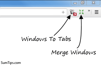 Google Chrome, Firefox: Combine / Merge All Open Windows into One