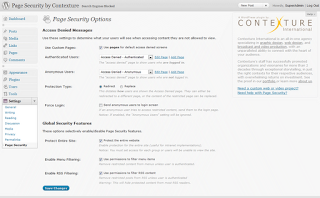 Plugin Page Security by Contexture