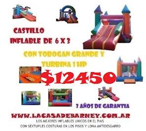 PROMO CASTILLO INFLABLE 6X3