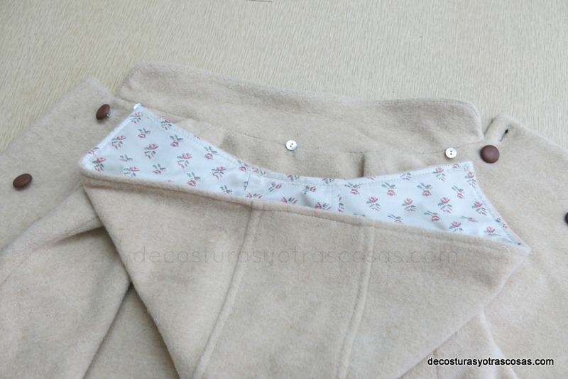 como hacer una capucha de quita y pon para un abrigo o chaqueta