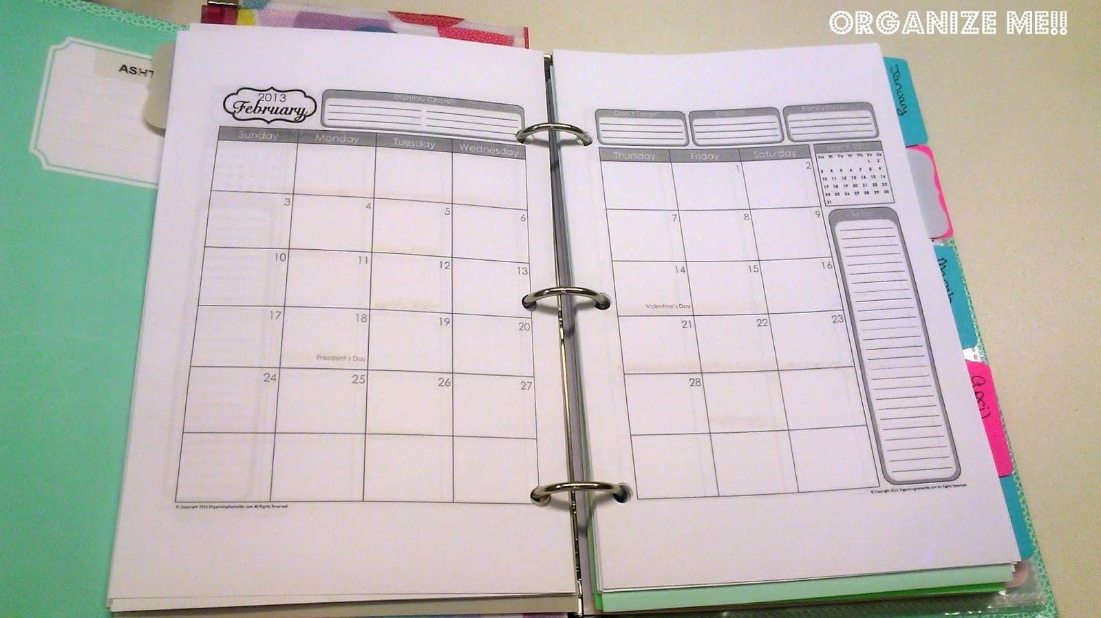 Diy Calendar Tabs : Ashton renee diy planner