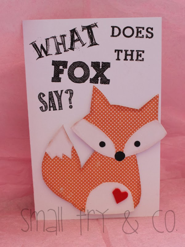Small Fry Co What Does the Fox Say Valentine Card and Other – Make Valentine Card Online