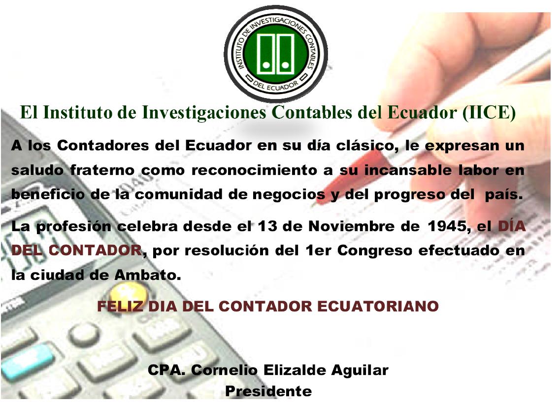 Elizalde A. - CONTADOR PUBLICO: FELIZ DIA DEL CONTADOR ECUATORIANO