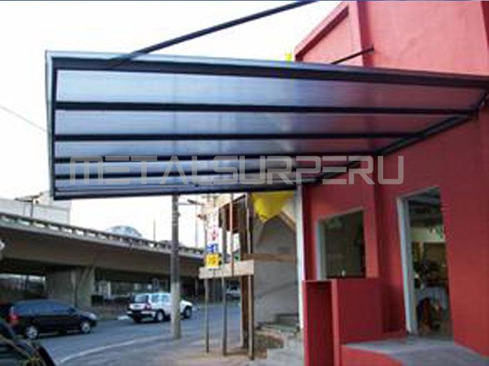 Techos para terrazas coberturas met licos arequipa for Techos de metal para terrazas