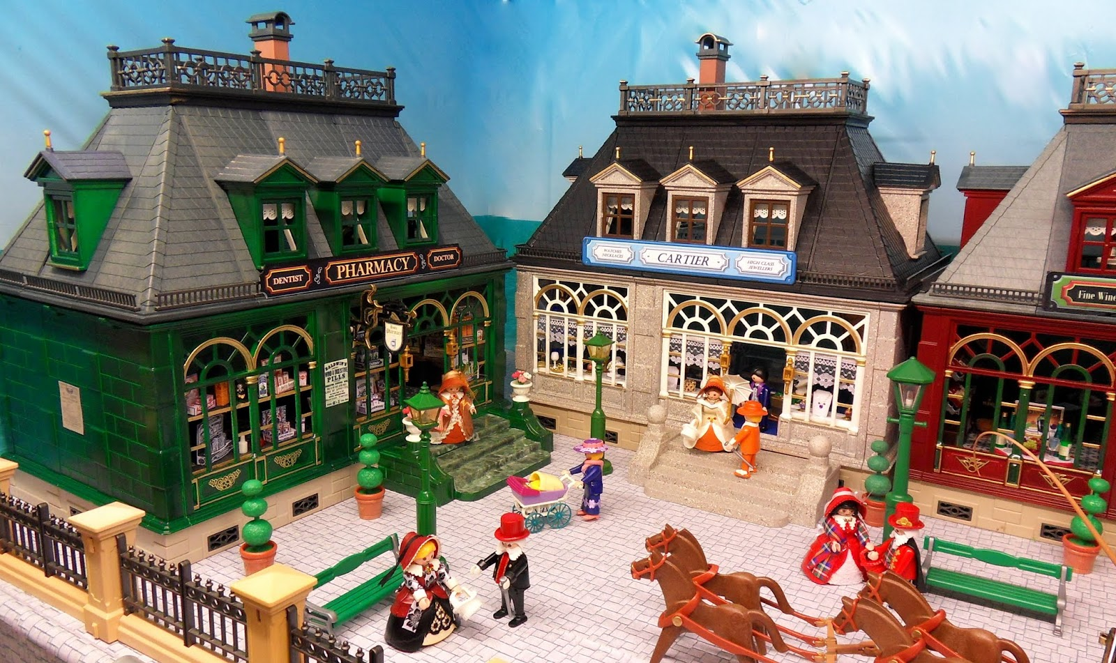 Victorian street scene emma j 39 s playmobil for Playmobil post