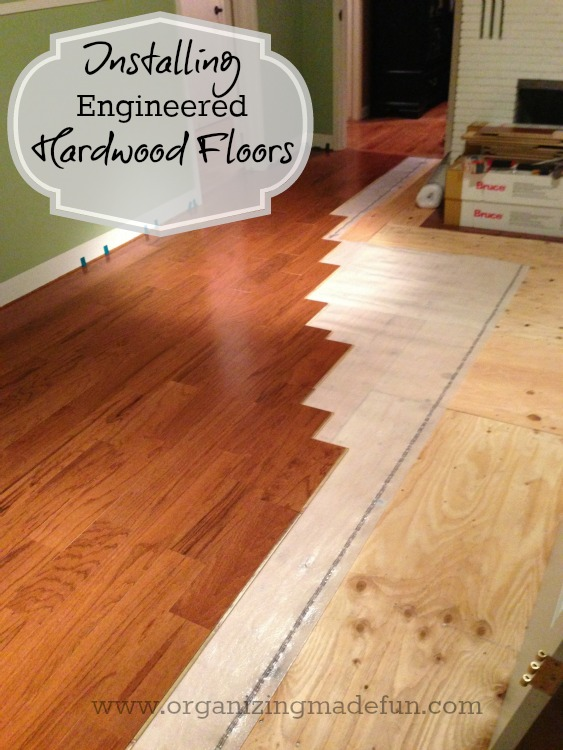 Update on projects installing engineered hardwood floors for Engineered wood flooring installation